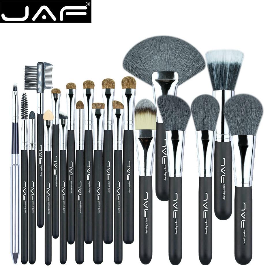 JAF 20 Pcs/Set Makup Brushes Premiuim Natural Hair of Goat & Pony Horse Super Soft Makeup Brush Tool Set Women Cosmetic Tools