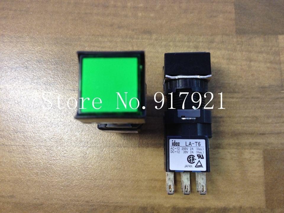 [ZOB] اليابان IDEC شركة إربد و LA-T6 الأخضر الأحمر الأزرق الأصفر الأبيض شقة دفع زر 16 مللي متر حقيقية الأصلي-10 قطعة/الوحدة