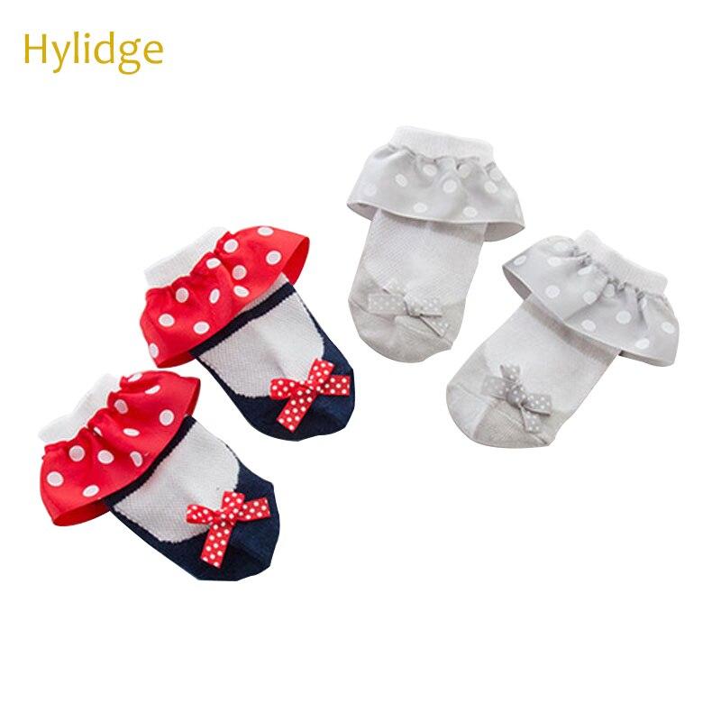 Hylidge милые женские тапочки в горошек кружевные короткие носки принцессы для