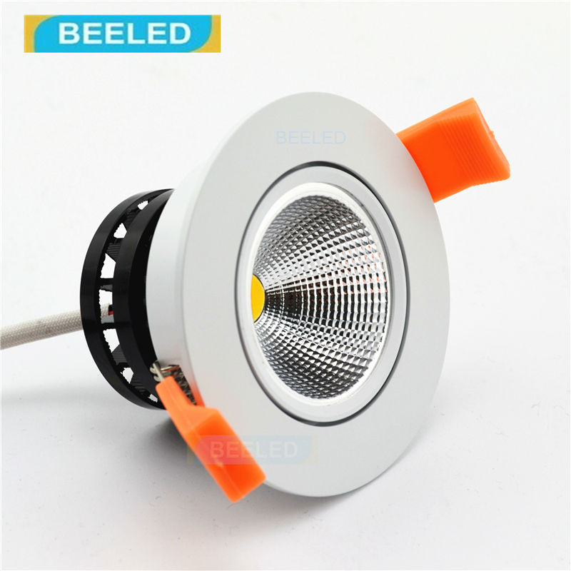 3w 5w 7w led cob led recessed ceiling light spot light lamp white aluminum quality dimmable dimmer lamp led light bulb lot dozen Recessed LED downlight Spot lights led lamp 3W 5W 7W white COB led dimmable dimmer led bulb lamps
