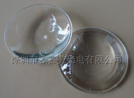 Lente LED de vidrio de 10 W-100 W lente de vidrio óptico de 63 MM, lente convexa de Plano LED de alta potencia