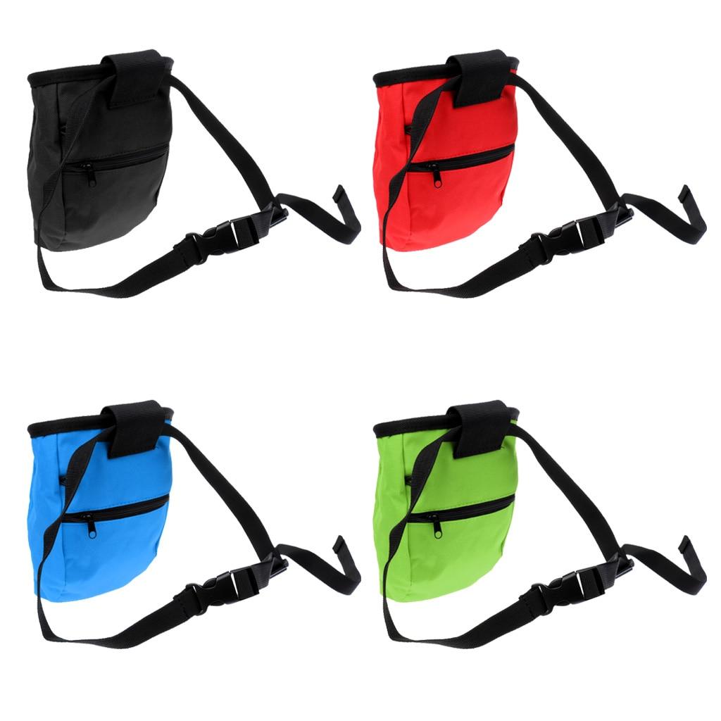 Bolsa de tiza para escalada en roca de montaña, bolsa de almacenamiento con cinturón para escalada, senderismo, Camping, deportes al aire libre