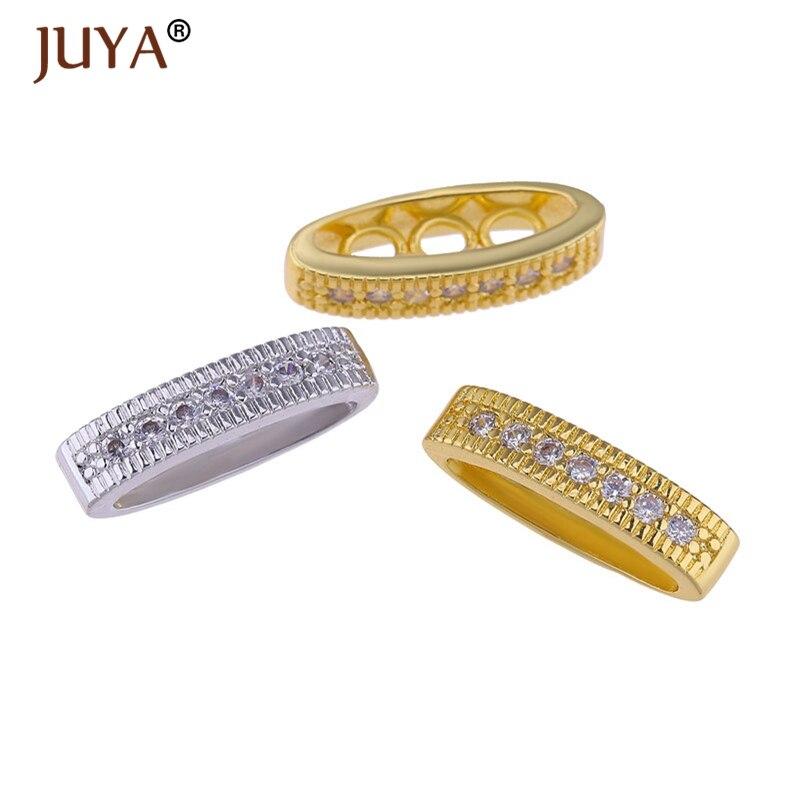 Suministros para joyas de circonio brillante, cuentas checas para pulsera, fabricación de joyas Diy, cuentas de cobre con Micro pavimento, abalorios, Bisutería