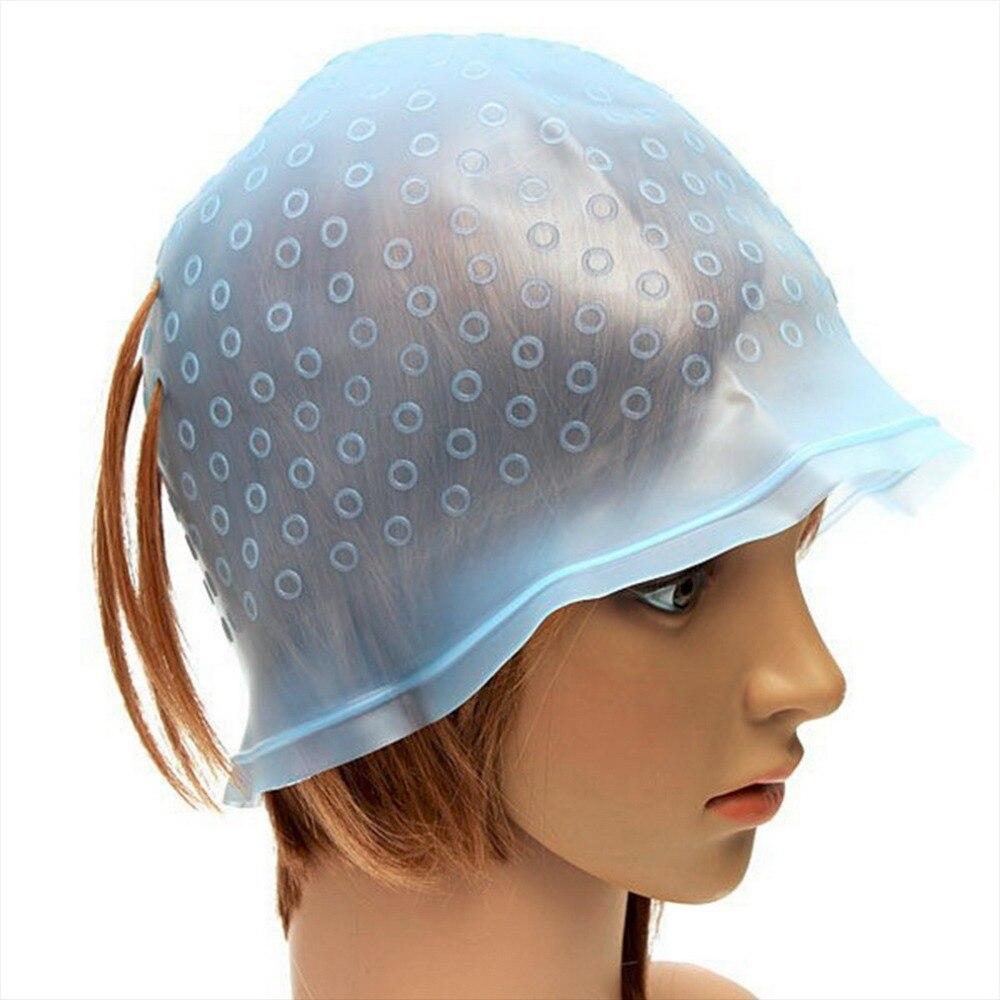 1Pc profesional reutilizable pelo colorantes realzador gorro de tinte glaseado de inflexión de herramientas de diseño para cuidado del cabello nuevo