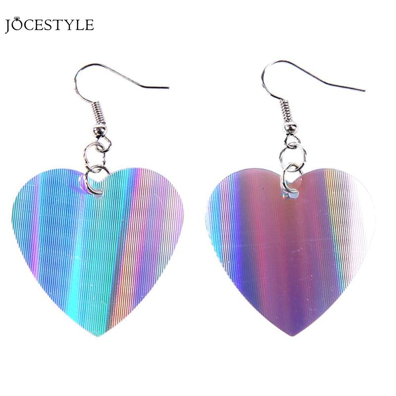 Pendientes colgantes con diseño de corazón de lentejuelas de moda para mujer, joyería de lentejuelas, pendientes de gancho con forma de gota, joyería, Dropshipping