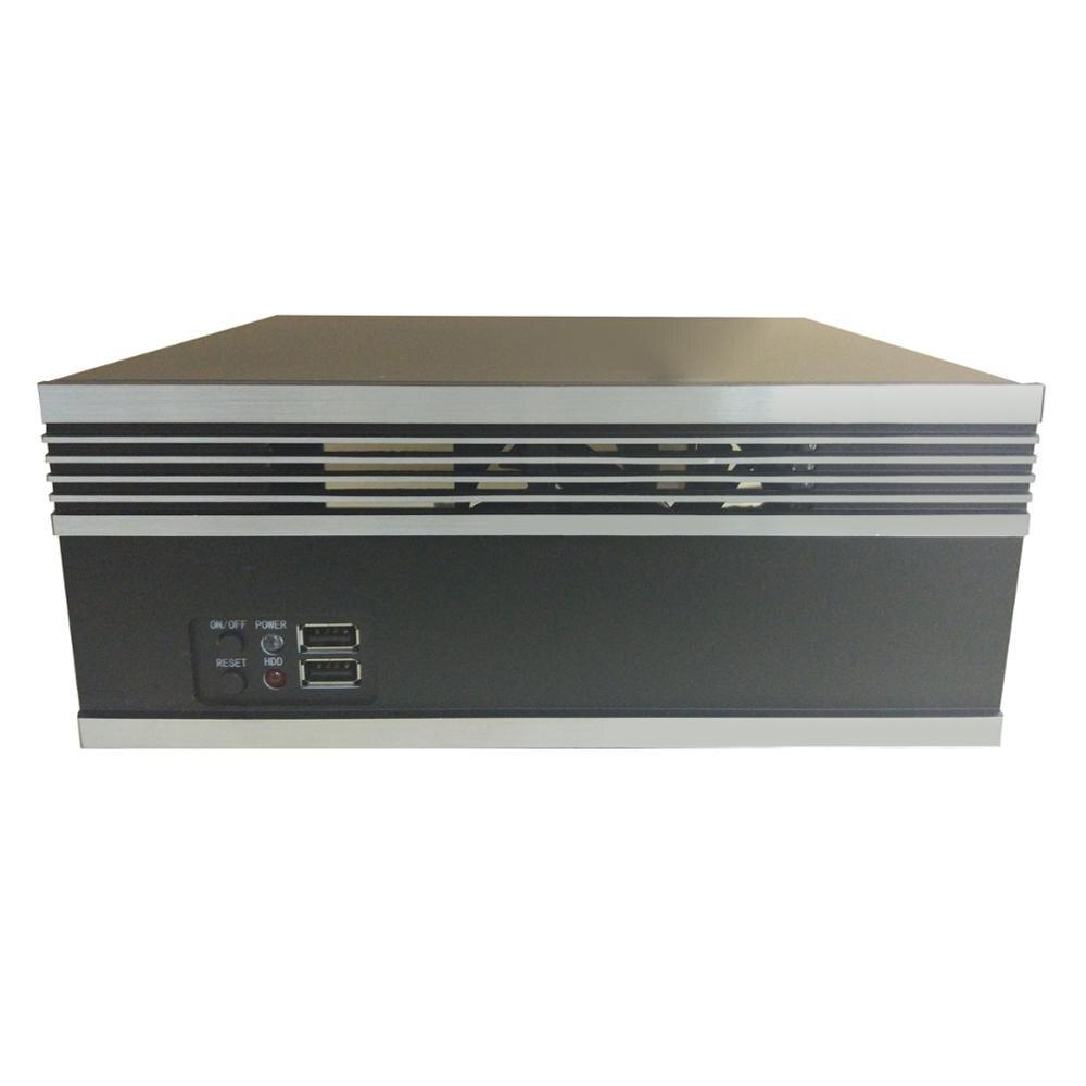 Mini ITX Computer Case HTPC PC CNC industrial control equipment chassis aluminium panel support MINI-ITX motherboard