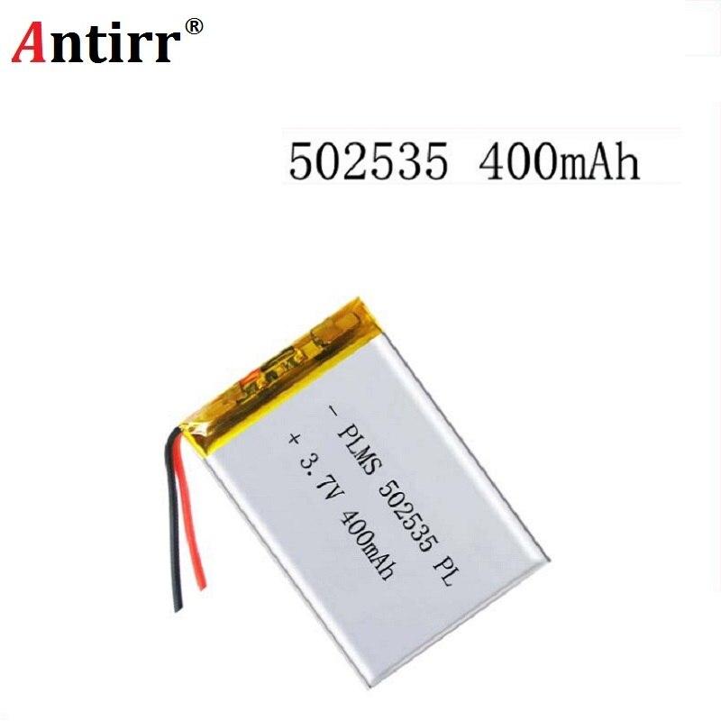 3,7 V 400 mAh 502535 de polímero de litio Li-Po li recargable de ion de las células de las baterías para Mp3 MP4 MP5 GPS altavoz bluetooth móvil PSP