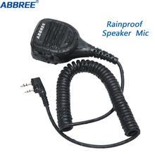 ABBREE AR-760 Rainproof Shoulder Speaker Microphone for Walkie Talkie TYT TH-UV8000D MD-380 Baofeng UV-5R UV-82