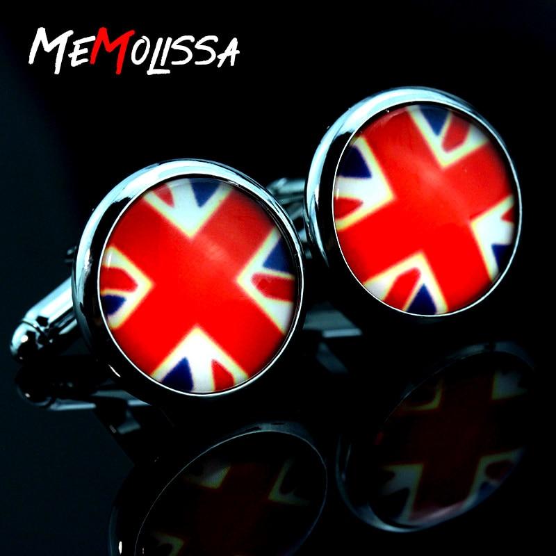 Gemelos con bandera simbólica nacional del mundo, gemelos con botón de camisa de plata para hombre, regalo de boda para novio, Reino Unido, Canadá, Francia