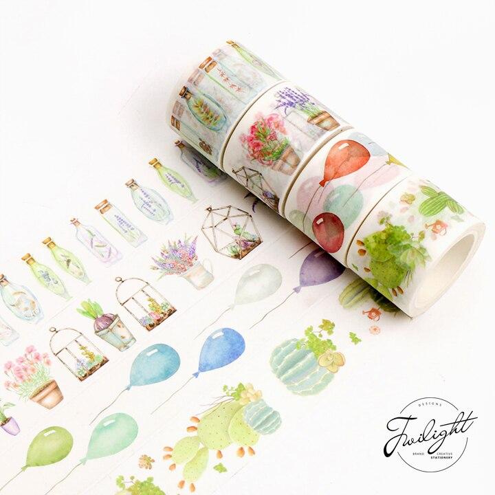 Vintage colorido penas washi fita adesiva decorativa diy scrapbooking etiqueta fita adesiva