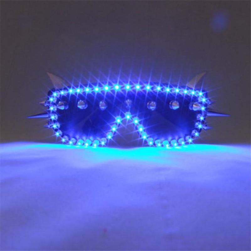 Gran oferta azul Led gafas de fiesta de Halloween luz Led luminoso gafas para suministros para eventos escenario DJ Club mostrar