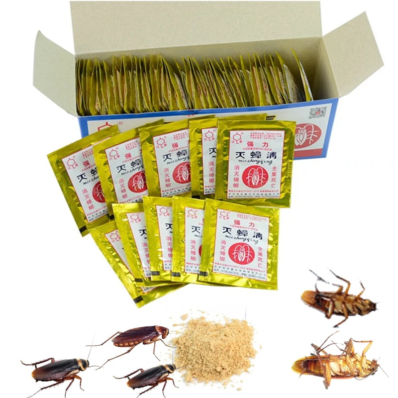20pcs Effective Killer Cockroach Powder Bait Special Insecticide Bug Beetle Medicine Insect Reject Pest Control Garden Supply