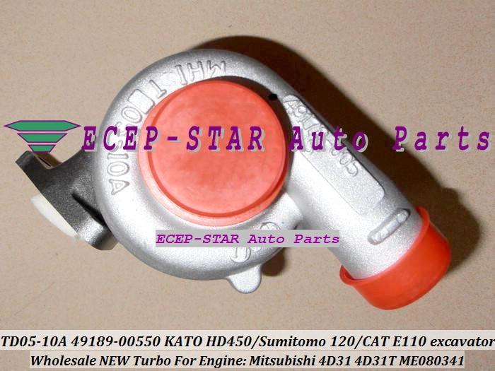 TD05-10A 49178-00530 49178-00550 49178-00520 ME080341 турбо для KATO HD300 HD400 HD4 для Sumitomo 120 E110 экскаватор 4D31 4D31T