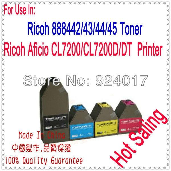 Para Ricoh Aficio CL7200 CL7200d CL7200DL cartucho de tóner para Ricoh CL 7200 CL-7200 885372 885373 885374 885375