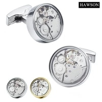 hawson fashion jewelry watch movement cufflinks imitation rhodiumgold color options superior gift for men