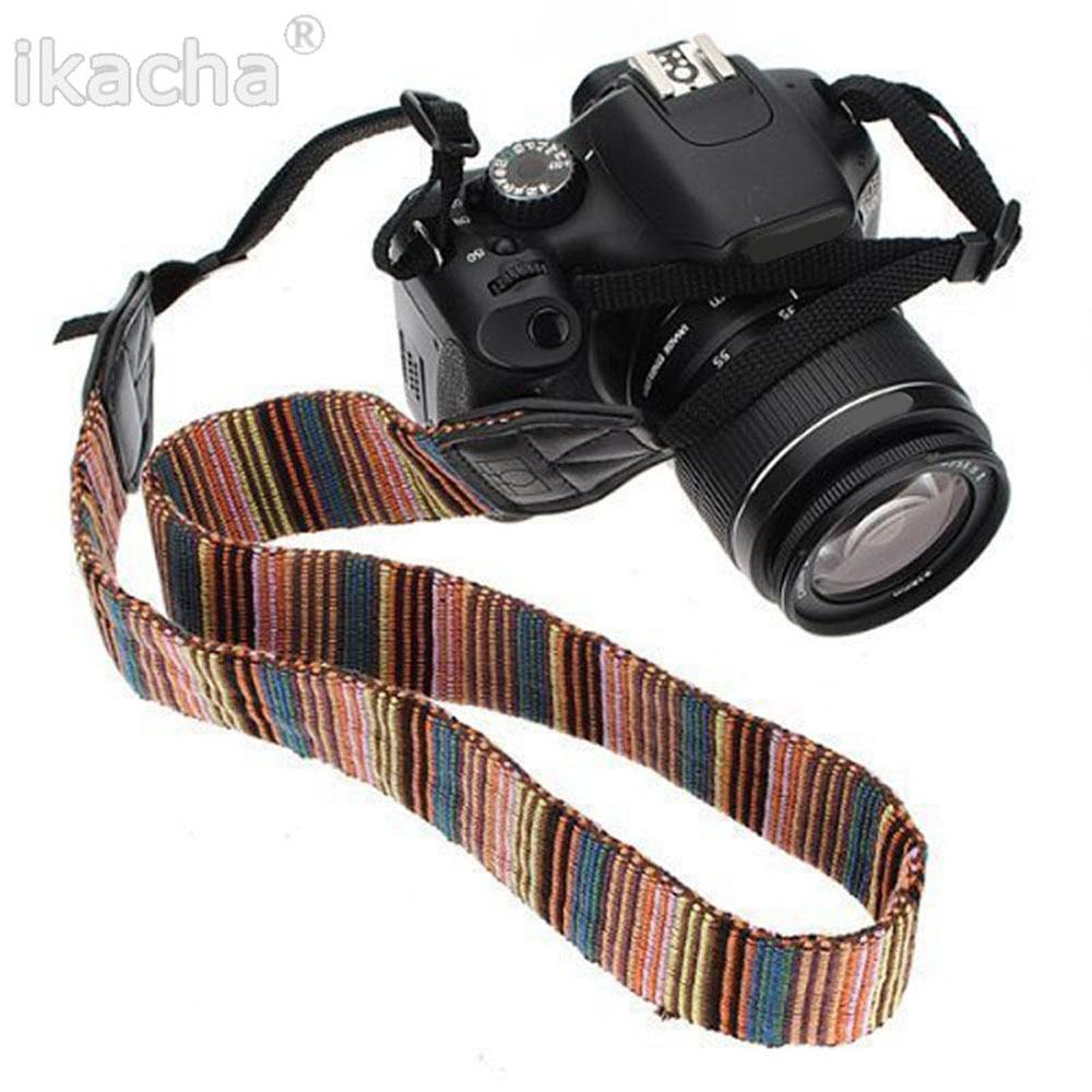 Universal Color Stripes Soft red Camera Neck Straps Shoulder Strap Belt Grip For Nikon Canon Panasonic Sony Pentax DSLR
