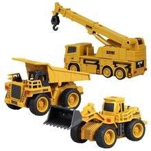 Mini RC Lkw Bagger Fernbedienung Traktor Modell 4-Kanal Bulldozer Kran Lkw Fernbedienung Spielzeug für Kinder Kid der Geschenk
