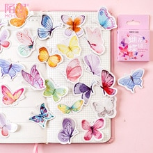 45 Pcs/lot Cute Butterfly Kawaii Stickers Diary Planner Journal Note Diary Paper Scrapbooking Albums