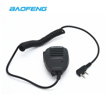 2 pçs ptt baofeng rádio alto-falante microfone para rádio em dois sentidos mão microfone walkie talkie UV-5R UV-5RE UV-5RA UV-6R BF-888S mic