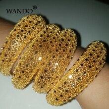 Wando 4 pièces bijoux éthiopiens couleur or bracelets pour femmes fille Dubai or bracelets pour les cadeaux de bracelets pour femme africains b141