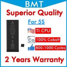 BMT الأصلي 20 قطعة متفوقة جودة 1560 mAh بطارية ل فون 5 S 100% الكوبالت الخليوي + ILC التكنولوجيا 2019 استبدال