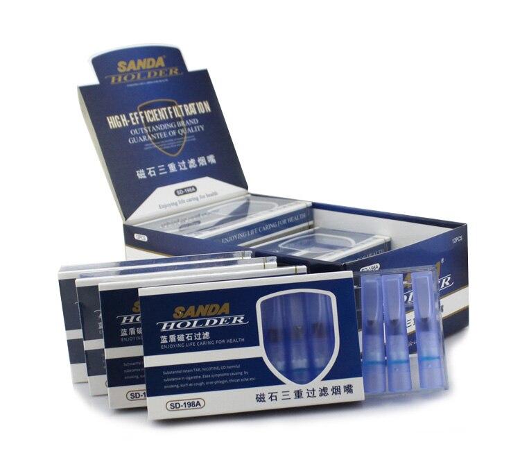 MINI filtros desechables Sanda-soporte para cigarrillos paquete económico a granel (96 filtros por paquete) Conjunto de fumador SD-198A