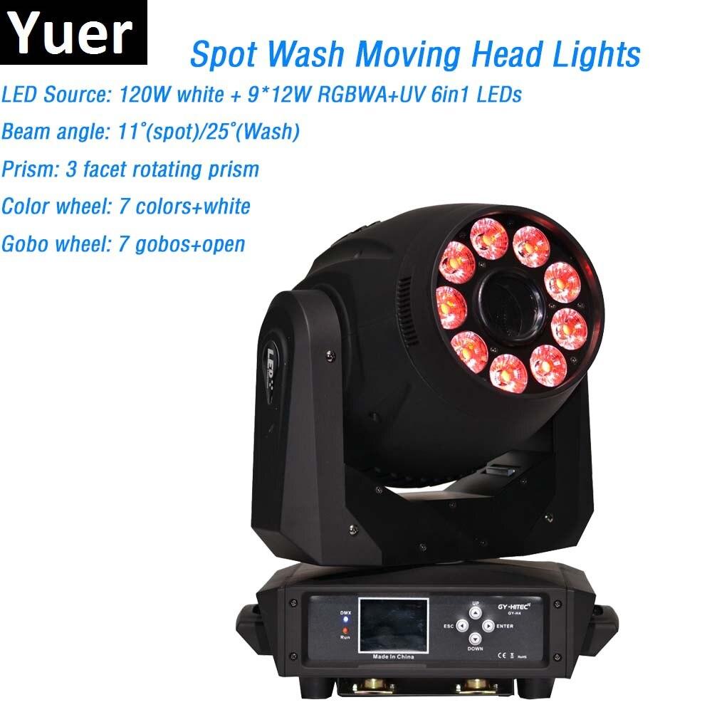 Точечная стирка, 2 в 1, фонарь, 1x Вт, белый светодиод и 9x12 Вт, фонари с подвижной головкой