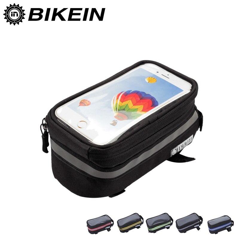 Велосипедная сумка для велосипеда MTB дорожный велосипед наружная рама Передняя головка верхняя трубка сумка с сенсорным экраном для телефо...