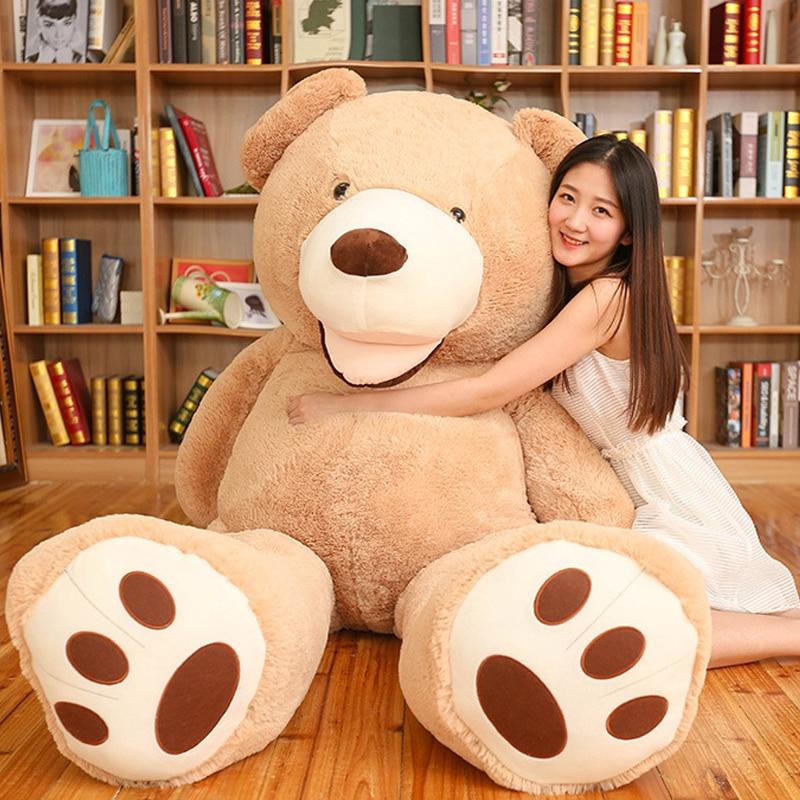 Tamaño enorme 200cm gigante oso de peluche de juguete de peluche abrigo de oso de alta calidad mejor regalo de cumpleaños de juguetes para niñas