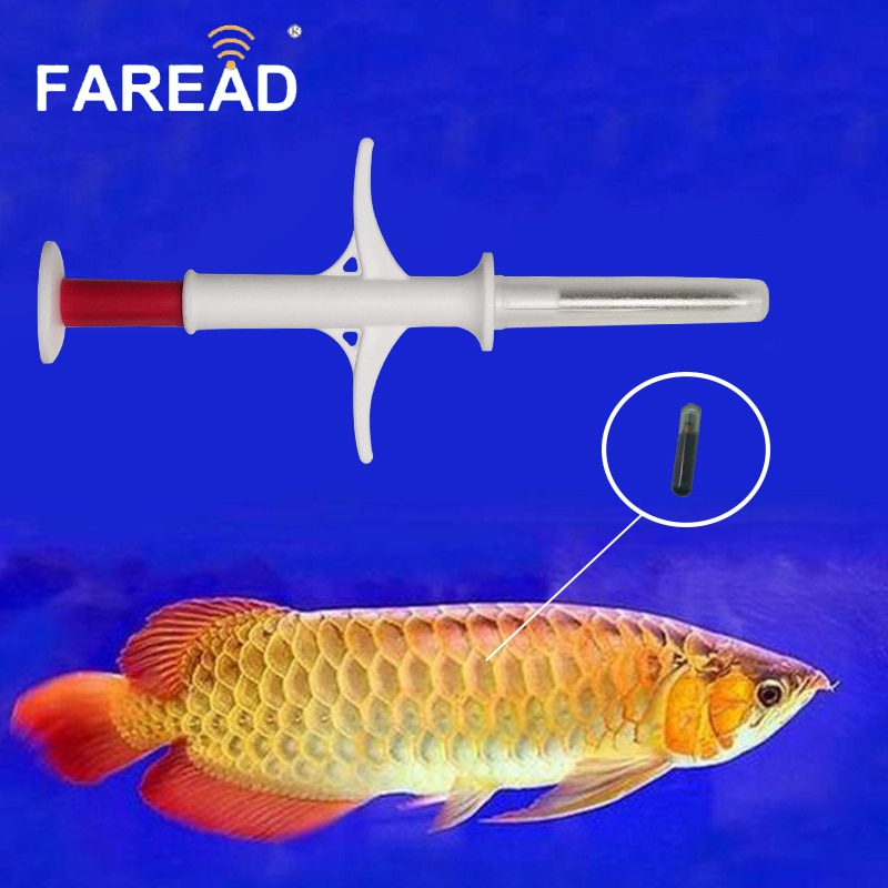 X40pcs 1,4*8 мм ISO11784/5 FDX-B 134,2 Khz Мини Стеклянная бирка шприц для микросхем слежения за рыбой RFID injectable безвредный чип