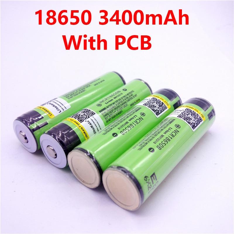 Хит продаж, 4 шт., хит продаж, оригинал, LiitoKala 18650, 3400 мАч, NCR18650B, 3400 батарея, 3,7 в, li-ion Rechargebale, батарея, PCB, защищенная для