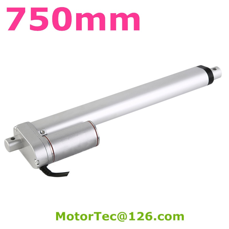 750mm carrera 1600N 160KG capacidad de carga alta velocidad 12V 24V DC actuador lineal eléctrico, actuador lineal