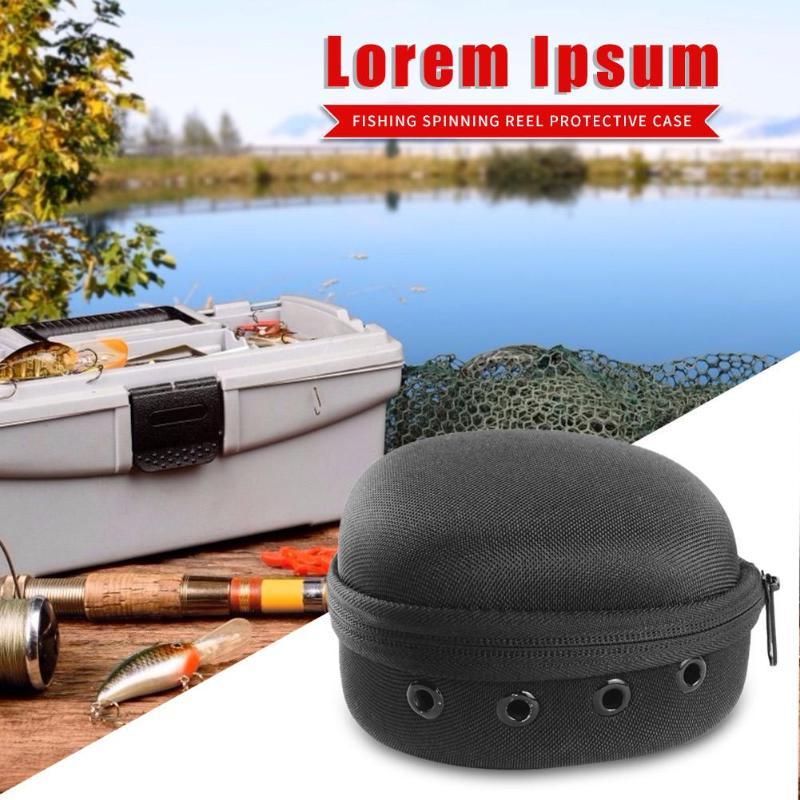 Bolsa de carretes de pesca portátil F49/F46 EVA para carrete de tambor, accesorios para aparejos de pesca, bolsa de almacenamiento impermeable, bolsa para pesca