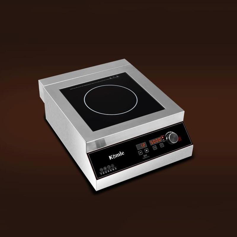 Cocina de Inducción comercial 5000W horno de agitación explosiva chimenea escritorio incrustado 220 V/380 V KAO20005