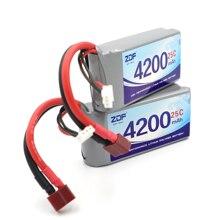 ZDF Хорошее качество 2шт Rc Lipo батарея 7,4 V 4200mah 2S 25C Max50C для Wltoys 12428 12423 1:12 RC автозапчасти