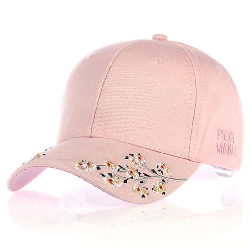 Женская Бейсболка VORON, черная, розовая, Белая Кепка из хлопка с цветочной вышивкой, 20