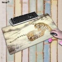 mairuige two tiger large gaming mouse pad gamer lock edge keyboard mouse mat gaming grande desk mousepad for cs go lol dota game