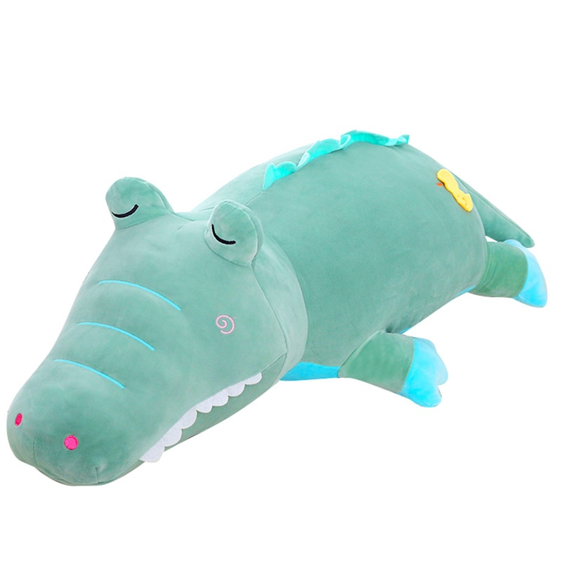55/70/105cm Simulation Crocodile Plush Toys Stuffed Soft Animals Plush Cushion Pillow Doll Home Decoration Gift for Children