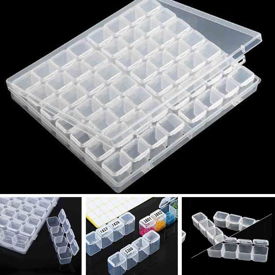 56 /112 Grids 5D DIY Diamond Painting Drill Box Jewelry Box Rhinestone Embroidery Crystal Bead Organizer Storage Case Container