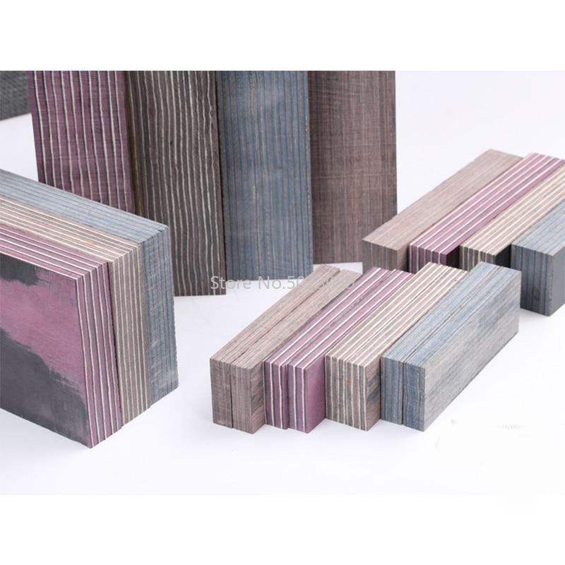 1piece Various Laminated Wood DIY Knife Handles Making Material Wood Blanks for Home DIY Handicraft Materials