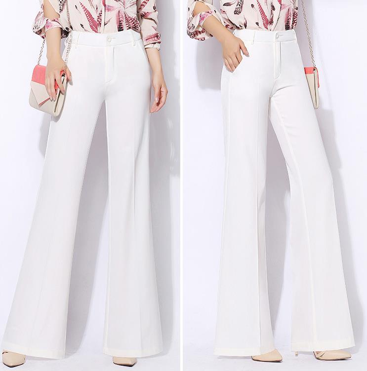 Wide leg pants women new high waist loose pants chiffon casual trouser