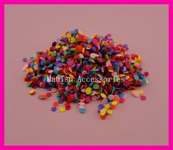 2000 PCS 6mm colorido rodada feltro apliques para DIY acessórios Hairbands, 6mm rodada de feltro patches, mini não-tecido círculos