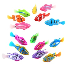 New Electronic Fish Pets with Flash Lighting Mini Sea Animal Electric Swimming Fish Toys for Childre