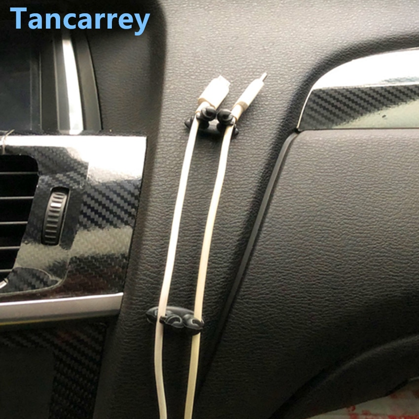 8 piezas de coche Clip fijo abrazadera de Cable USB Clip para bmw serie 3 opel vivaro toyota avensis t25 jeep brújula opel vectra c