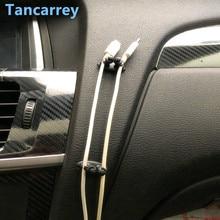 8Pcs Car Wire Clip Fixed Clamp USB Cable Clip FOR ford fiesta mk7 nissan qashqai citroen c5 aircross skoda karoq vw