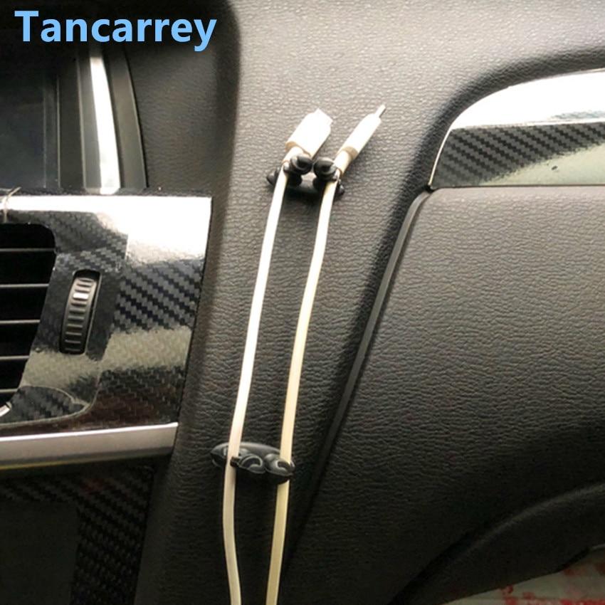 Clip de Cable fijo para coche 8 piezas Clip de Cable USB para mercedes w205 asiento León mk1 opel astra g suzuki jimny bmw e30 volkswagen golf