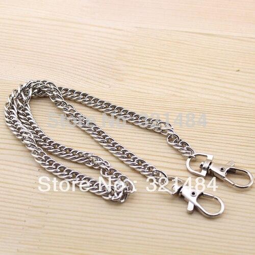 40cm 50pcs 8mm Dull silver plated Dense Handbag Metal Purse Chain Handles WHOLESALE