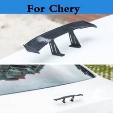 Autocollants de décoration pour Mini aile   Nouveau modèle GT, en Fiber de carbone, pour Chery M11 Oriental fils QQ6 Sweet Tiggo Tiggo 5 très