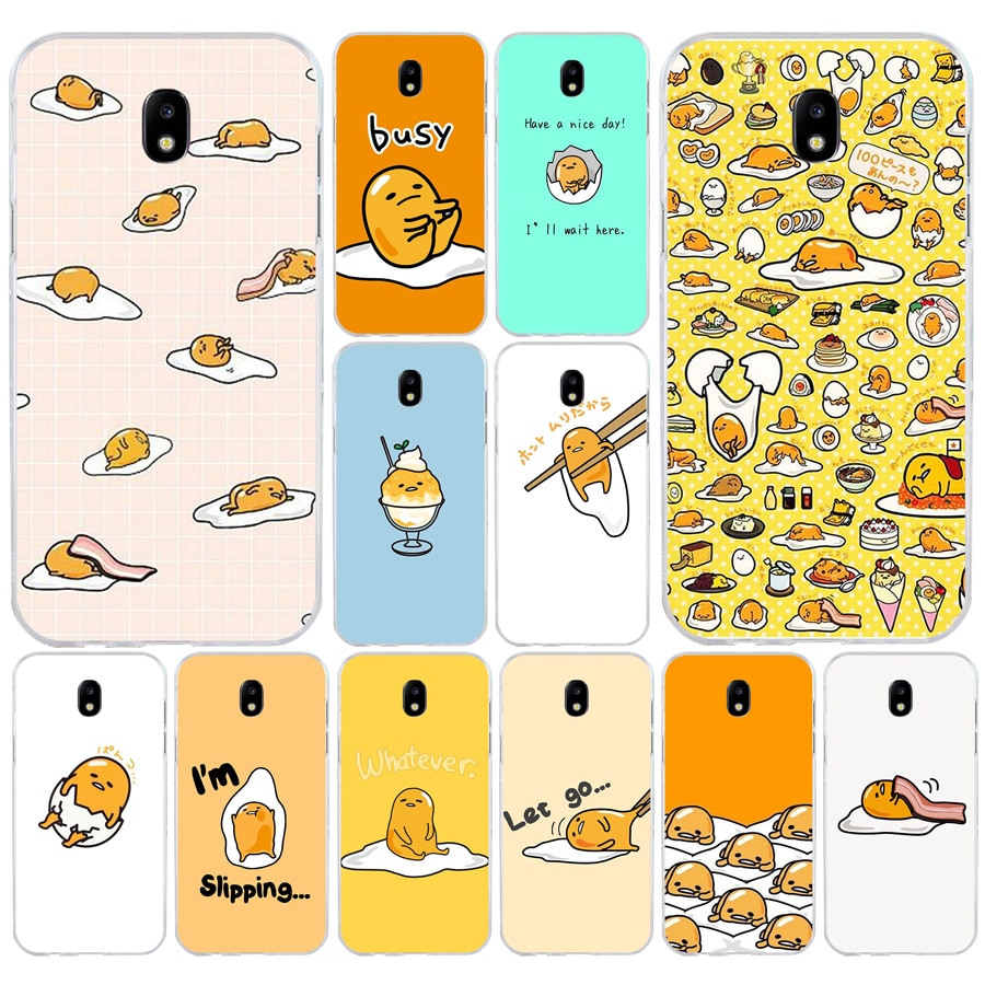 80A Gudetama personaje huevo suave silicona Tpu cubierta teléfono funda para Samsung galaxy j3 j5 j7 2016 2017