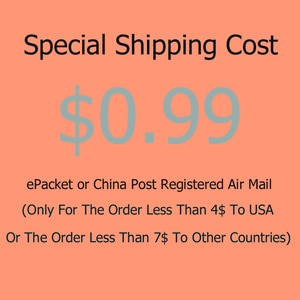 ePacket Or China Post Registered Air Mail (Only For The Order Less Than 4$ To USA Or The Order Less Than 7$ To Other Countries)